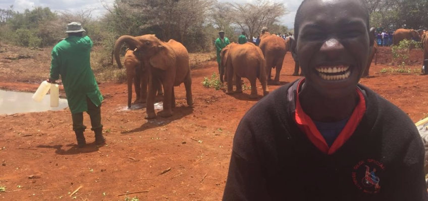 Kivuli Children Visit David Sheldrick Elephant Orphanage