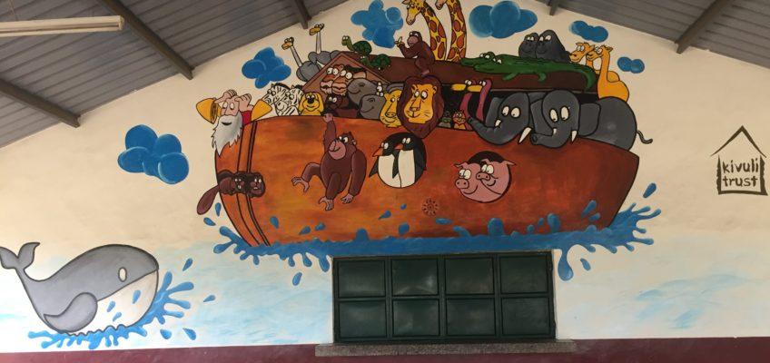 Wonderful artwork on the walls